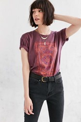 Truly Madly Deeply Floral Jewel Tee Purple