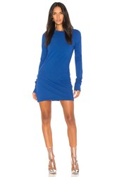 Cotton Citizen The Tokyo Long Sleeve Mini Dress Blue