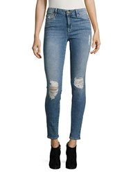Sanctuary Shredded Cotton Blend Jeans Andie Wash