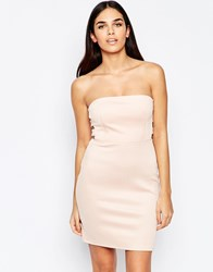 Oh My Love Side Tab Bodycon Dress Pink