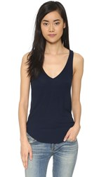 Feel The Piece Lilith V Neck Tank Navy