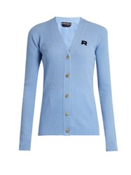 Rochas Wool And Cashmere Blend Cardigan Light Blue