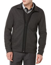 Perry Ellis Knit Zip Up Sweater