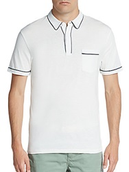 Life After Denim New Chester Cotton Polo Shirt White