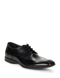 Kenneth Cole Reaction Sharp Square Toe Leather Dress Shoes Black