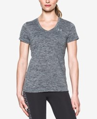 Under Armour Amour Ua Tech Twist V Neck Tee Stealth Gray