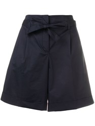 Paul Smith Ps High Waisted Shorts Blue