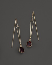 Bloomingdale's Garnet Bezel Set Drop Earrings In 14K Yellow Gold