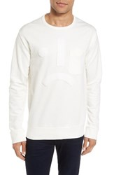 French Connection Men's Terry Pullover Milk