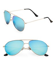 Sam Edelman 64Mm Round Aviator Sunglasses Blue