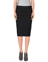 Basso And Brooke Knee Length Skirts Black