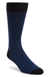 Men's John W. Nordstrom Feeder Stripe Socks Blue 3 For 45 Navy Blue