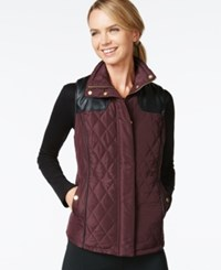 Styleandco. Style And Co. Sport Quilted Zip Front Vest Only At Macy's Rhone