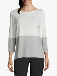 Betty And Co. Two Tone T Shirt Cream Silver