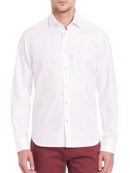 Saks Fifth Avenue Solid Long Sleeve Shirt White