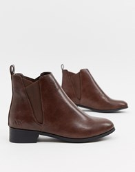 Matt And Nat Flat Chelsea Boots Brown