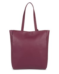 Jaeger Icon Leather Tote Purple