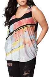 Rachel Roy Plus Size Women's Tie Back Print Tank