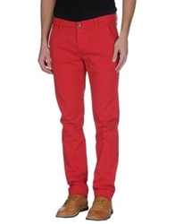 Camouflage Ar And J. Casual Pants Red