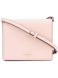 Kate Spade Flap Crossbody Bag Women Calf Leather One Size Pink Purple