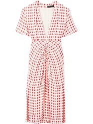 Proenza Schouler Checked Shortsleeved Dress 60