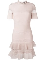 Alexander Mcqueen Ruffle Trim High Neck Dress