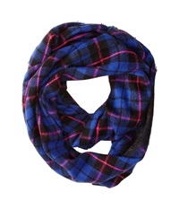 Betsey Johnson Betsey Plaid Lace Infinity Blue Scarves