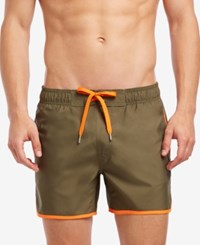 2Xist 2 X Ist Performance Quick Dry Swim Trunks 4 Olive Hazal