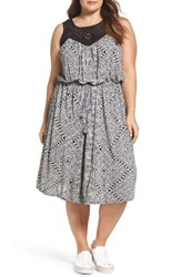 Lucky Brand Plus Size Women's Macrame Yoke Knit Dress