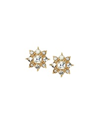 Fragments For Neiman Marcus Fragments Crystal Star Burst Button Earrings
