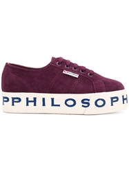 Philosophy Di Lorenzo Serafini Superga X Sneakers Pink And Purple