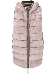 Cara Mila Camille Reversible Gilet Nude And Neutrals