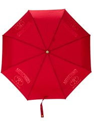 Moschino Logo Detail Umbrella Red