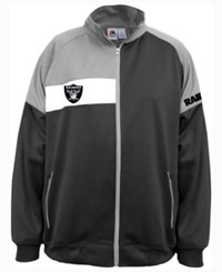 Majestic Men's Oakland Raiders Court Track Jacket Black