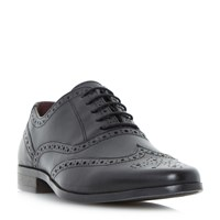 Howick Power Pointed Oxford Brogue Shoes Black