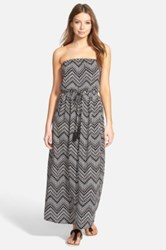 Painted Threads Strapless Maxi Dress Juniors Black