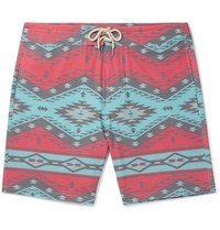 Faherty Topeka Slim Fit Long Length Printed Swim Shorts Multi