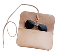 Lin Morris Natural Leather Sunglass Case