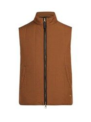 Dunhill Radial Padded Quilted Gilet Brown Multi