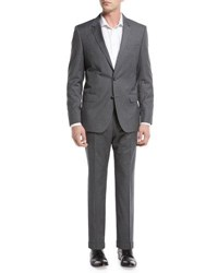 Boss Basic Slim Fit Two Piece Suit Gray
