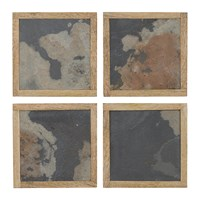 Amara Slate Veneer Coasters Set Of 4 Grey