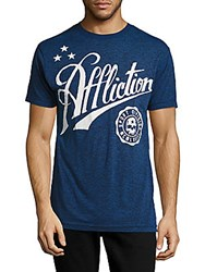 American Fighter Skull Sport Cotton Blend Graphic Tee Deep Sail