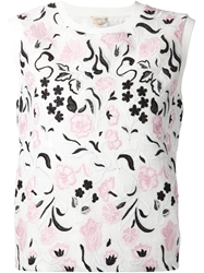 Giambattista Valli Floral Embroidered Tank Top