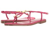 Sergio Rossi Twist Flat Electric Pink Suede Women's Flat Shoes Brown