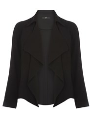 Evans Black Short Trench Jacket