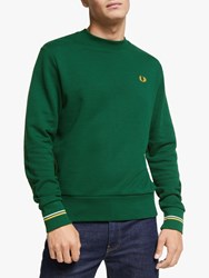 Fred Perry Crew Neck Sweatshirt Ivy