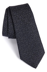 Rag And Bone 'Heathered Dot' Silk And Wool Tie Navy