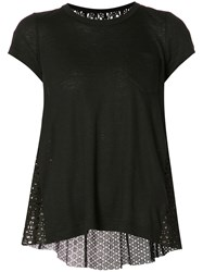 Sacai Dot Lace Tee Black