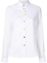 Paul Smith Ps By Multi Coloured Buttons Shirt White