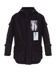 Givenchy Badge Applique Hooded Parka Black